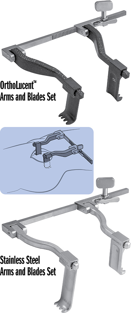Stainless Steel Ratchet Frame with Arms and Blades Sets